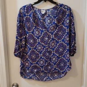 Blue rayon top